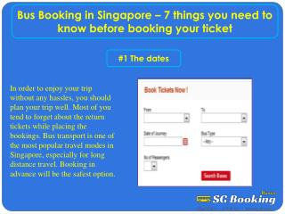 Bus Booking in Singapore – 7 things you need to know before booking your ticket