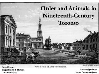 Order and Animals in Nineteenth-Century Toronto