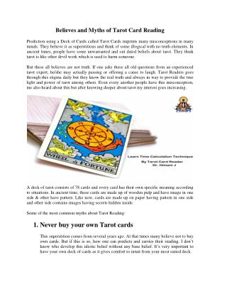 Tarot Card Reading Courses in India | Tarot Card Reader