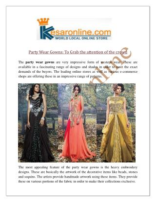 Party Wear Gowns Online United States