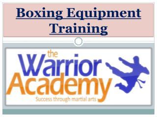 Boxing Equipment Training