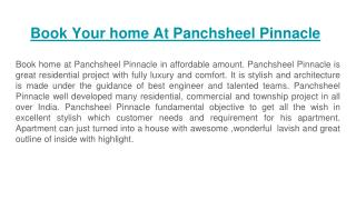 Book Your home At Panchsheel Pinnacle