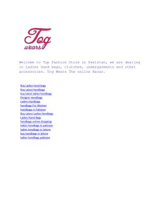 Tog Wears The online Bazar
