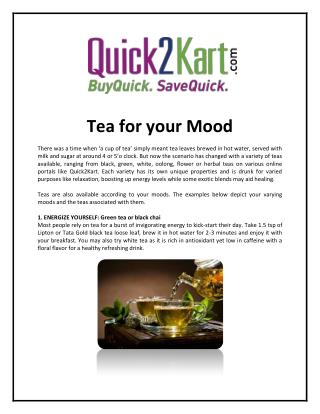 ENERGIZE YOURSELF: Green tea or black chai