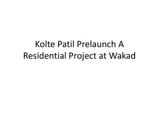 Flats in Wakad at Kolte Patil Prelaunch with Red Coupon Discount