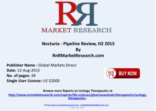 Nocturia Disease Pipeline Therapeutics Development Review H2 2015