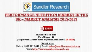 Performance Nutrition Market in UK to Grow at 8.4% CAGR to 2019 Forecasts a New Report 2019