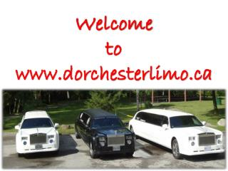 Limo Service Kitchener at Dorchester Limo