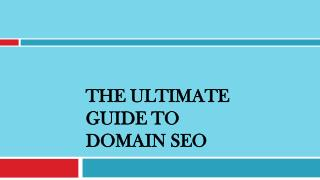 The Ultimate Guide to Domain SEO