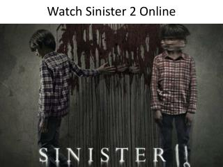 Watch Sinister 2 Online Without Sign Up