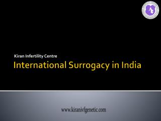 International Surrogacy in India