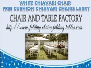 White Chiavari Chair - Free Cushion - Chiavari Chairs Larry