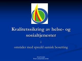 Kvalitetssikring av helse- og sosialtjenester