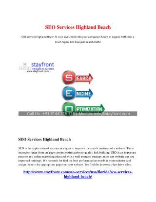 SEO Services Highland Beach