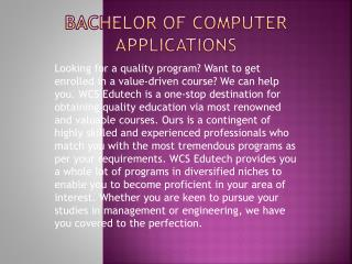 Bachelor of computer applications