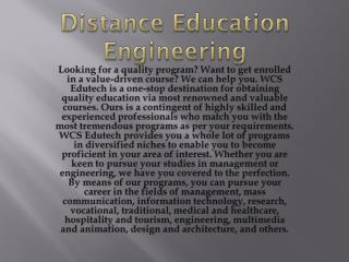 distance learning engineering courses