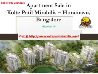 Kolte Patil Mirabilis - Horamavu, Bangalore - Reviews, Location, Price, Offers – 080 33512375