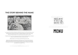 Menu Card – Heliot Steak House at the Hippodrome Casino London
