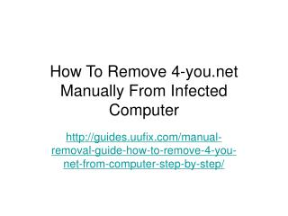 How To Remove 4-you.net Manually From Infected Computer