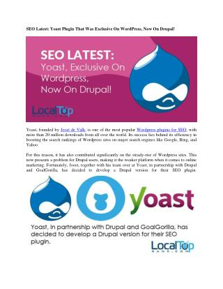 Yoast SEO Plugin Now available on Drupal