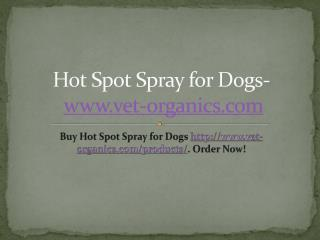 Hot Spot Spray for Dogs- www.vet-organics.com