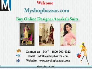 Buy online designer anarkali suits