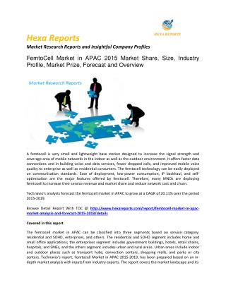 Femtocell market in apac Market share, size, trends and forecasts 2015 - 2019