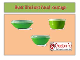 Best Kitchen food storage