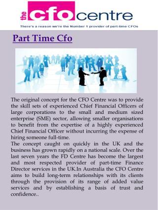 Part Time CFO