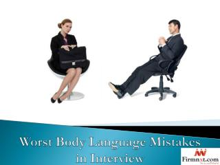 Worst Body Language Mistakes in Interview