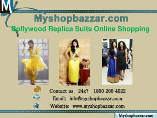 Bollywood replica suits online shopping