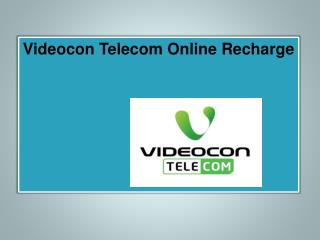 Videocon Online Recharge, Prepaid Mobile Online Recharge