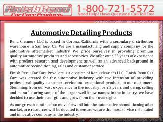 Automotive Detailing Products