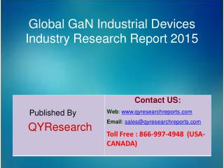 Global GaN Industrial Devices Market 2015 Industry Overview, Share, Growth, Analysis, Share and Trends