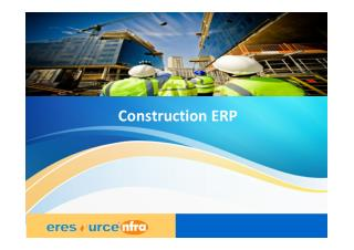 Construction ERP | ERP for Construction | Software for Construction Company - eresource nfra ERP