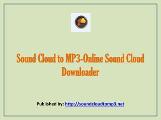 Online Sound Cloud Downloader