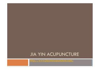 Traditional Chinese Medicine Treatment in Dublin - Jiayinacupuncture