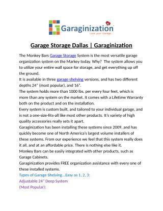 Garage Storage Dallas | Garaginization
