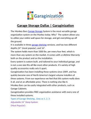 Garage Storage Dallas | Garaginization