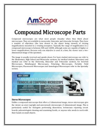 Compound Microscope Parts