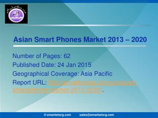 Asian smart phones market competition and prospects to 2020