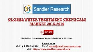 Water Treatment Chemicals Market to 2019 – US, China, India,Brazil and Other Countries Analyzed