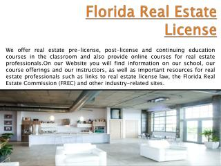 Florida Real Estate License