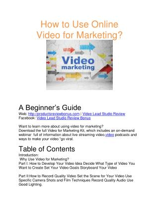 Video Lead Studio Review- Video marketing Online