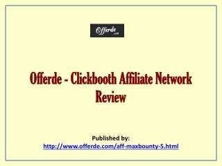 Clickbooth Affiliate Network Review