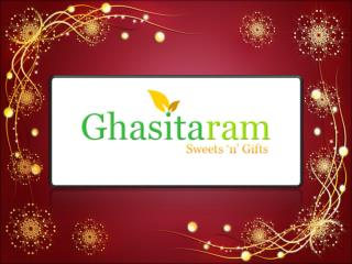 Buy Online Fresh Indian Sweets (Mithai) from Ghasitaramgifts.com