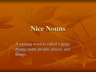 Nice Nouns