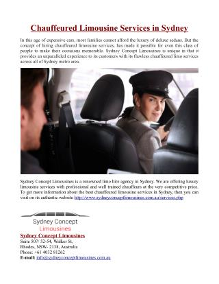 Chauffeured Limousine Services in Sydney