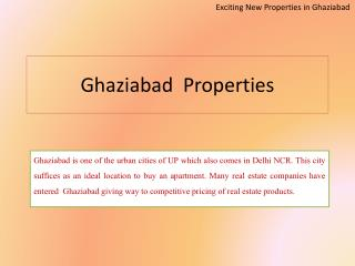 Ghaziabad Projects -Real Estate in Ghaziabad