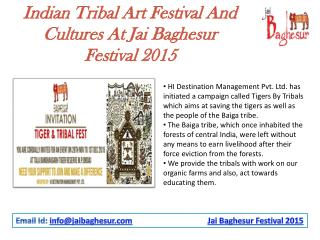 Indian Tribal Art Festival And Cultures At Jai Baghesur Festival 2015